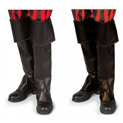 Pirate Boot Covers Shoe Tops Adult Mens Halloween Fancy Dress Costume Accessory