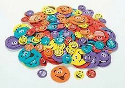 50 Smiley Face Foam Sticker Shapes Scrapbooking Kids Crafts Cards Adhesive Back