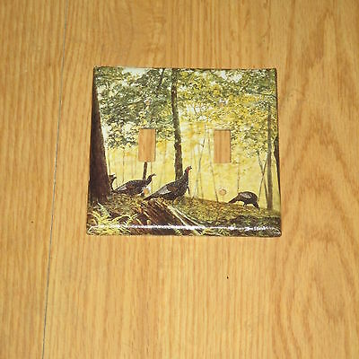 Huge Wild Turkey Hunting Game Bird 2 Hole Light Switch Cover Plate #9