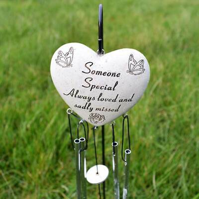 Someone Special Always Loved Sadly Missed Memorial Heart Wind Chime Graveside