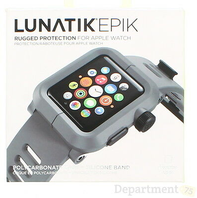 NATIKEPIK Gray Silicone Rugged Protection For Apple Watch 42mm