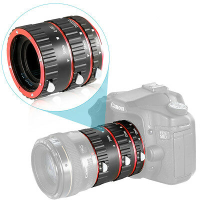 Neewer Extension Tube Set for Canon EOS DSLR Lens, Extreme Close-Ups (Red) UD#15