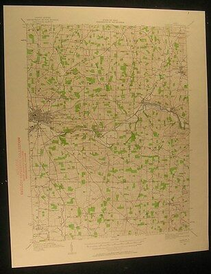 Gambier Ohio Mount Vernon Howard 1961 vintage USGS original Topo chart map