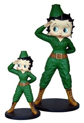 Betty Boop Soldier Statue - Life Size Betty Boop Comic Prop Display- Free Ship