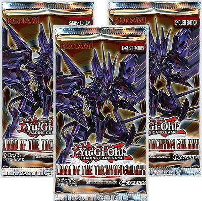 YuGiOh! Lord of the Tachyon Galaxy New and Sealed yugioh Booster Packs x3