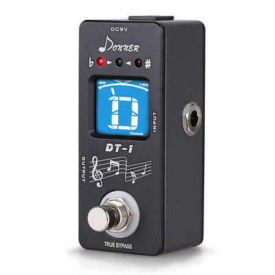 Donner DT-1 Mini Chromatic Guitar Pedal Tuner True Bypass US LOCAL FAST SHIPPING