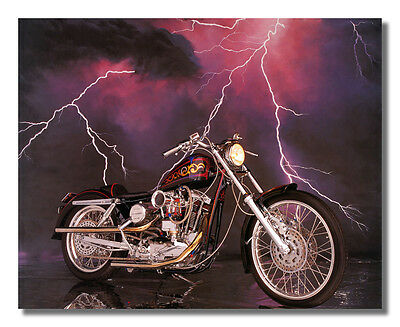 1971 Harley Davidson XLH Sportster Motorcycle Wall Picture 8x10 Art Print