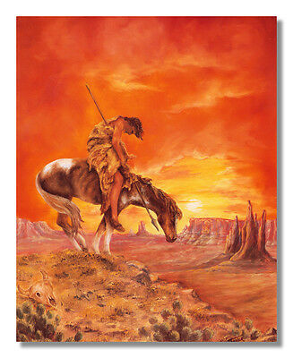 End Of The Trail Native Indian Wall Picture Art Print