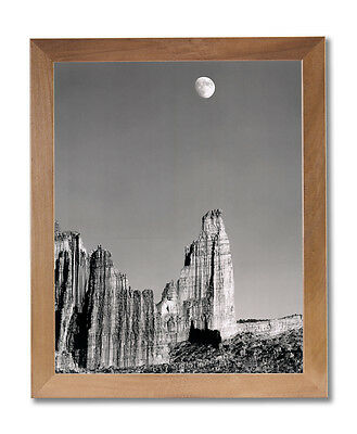 Moon Over Titan Nature Landscape Wall Picture Honey Framed Art Print
