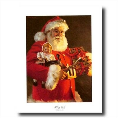 Old St Nick Santa Clause Christmas #1 Wall Picture Art Print