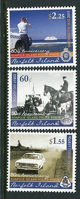 2011 Norfolk Island Police Force 80th Anniversary - MUH Complete Set