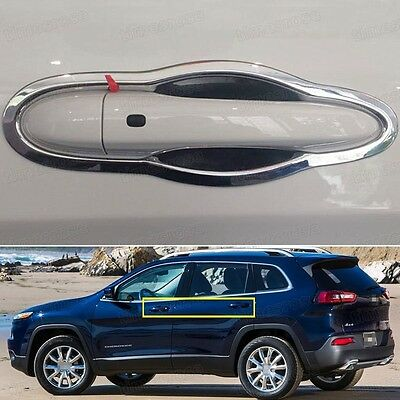 New Chrome Outer Side Car Door Handle Cover Trim Fit for Jeep Cherokee 2013-2016