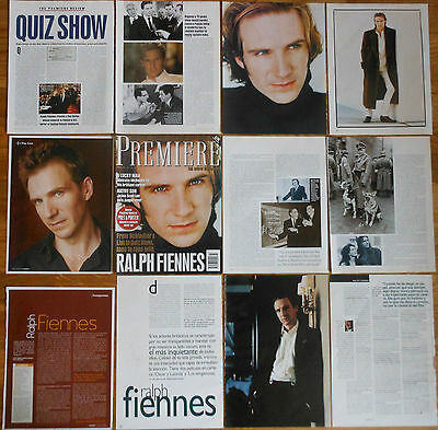 RALPH FIENNES clippings 1990s/00s magazine articles photos actor Cinema