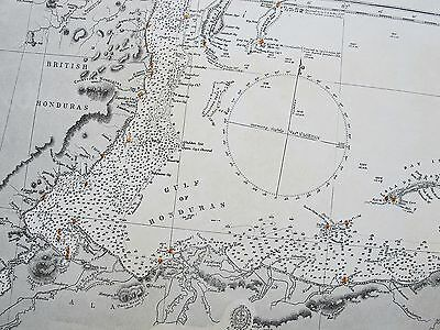 1843 West Indies Honuras Cabo Gracias A Dios To Belize Admiralty Chart Map