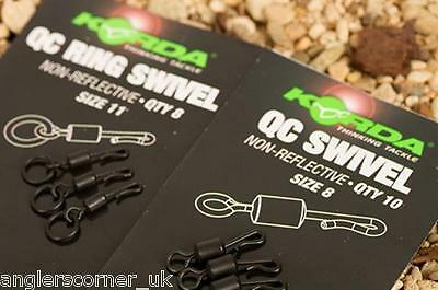 Korda Quick Change Ring Swivel / Size 8 / Size 11 / Fishing