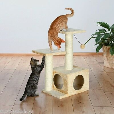 Cat Tree Scratch Post Valencia Beige 71 cm For Cats & Kittens • EUR 48,55