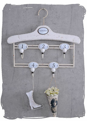 Hook Rail Shabby Chic Wall Coat Rack Coat Hook Towel Holder White