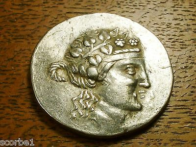 Ancient Greece Thrace, Thasos Dionysus Silver Ar Tetradrachm Ca. After 146Bc