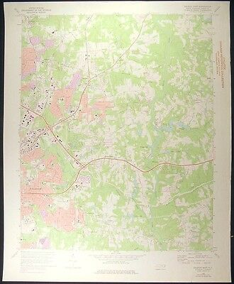 Raleigh North Carolina Wake County 1976 vintage USGS original Topo chart map