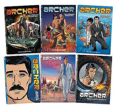 Archer: Animated FX TV Series Complete Seasons 1 2 3 4 5 6 Box / DVD Set(s) NEW!