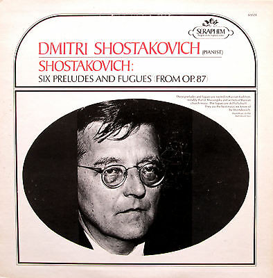 60024 Shostakovich Plays Shostakovich Six Preludes & Fugues EXCELLENT Seraphim