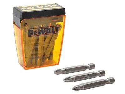 15 Dewalt 50mm PZ2/Pozi 2 Screwdriver Bits & Storage Tube For Drills, DT7912