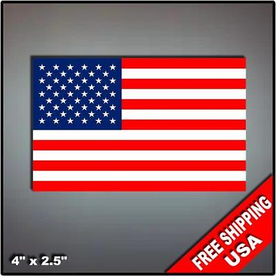 "Set of 2 USA flag decals 4"" vinyl sticker America United States Liberty"