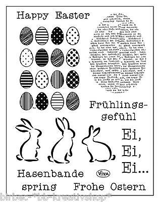 VIVA DECOR Clear Stamps MY PAPER WORLD Silikon Stempel FROHE OSTERN 144