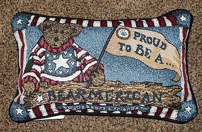Boyds Bears Proud To Be A Bearmerican ~ Bear American Tapestry Word Pillow