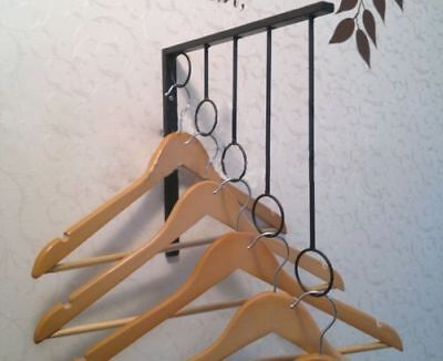 3 X Iron Wall Mounted Clothes Rack Hanger Display Fashion Shop 003