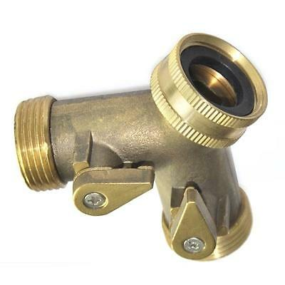 3/4'' Two Way Double Garden Twin Tap Hose Pipe Splitter Faucet Connector Adaptor