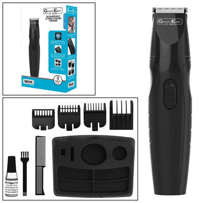 Wahl Cordless Rechargeable Beard Moustache Facial Hair Trimmer Male Grooming Kit