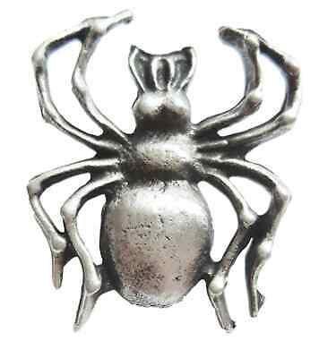 Spider Handcrafted From English Pewter Lapel Pin Badge + Gift Bag