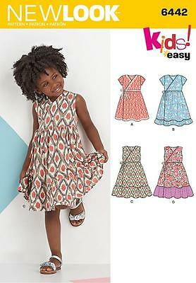 New Look Sewing Pattern Childr's Wrap Dress Size 3 - 8 6442