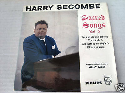 "HARRY SECOMBE  7"" ep record  SARRED SONGS VOL 2"