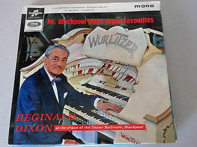 "REGINALD DIXON  vinyl 7"" ep record mr blackpool plays organ favourites in  mono"