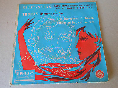 "THE LAMOUREUX ORCHESTRA  7""ep  record  SAINT SAENS --THOMAS"