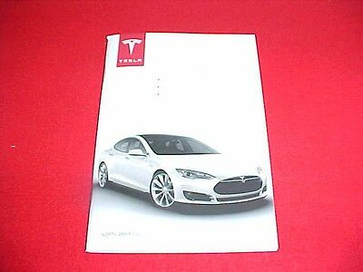 2015 2016 Original Tesla Model S Quick Guide Supplement Only Owners Manual 15 16