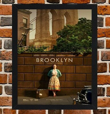 Framed Brooklyn Movie Poster A4 / A3 Size Mounted In Black / White Frame