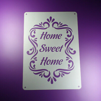 A3 Schablone Home Sweet Home Ornament Frame BO374