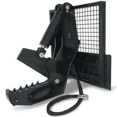 """12"""" Rotating Tree Shear Attachment 5"""" Cylinder Skid Steer for Tractor Loaders"""