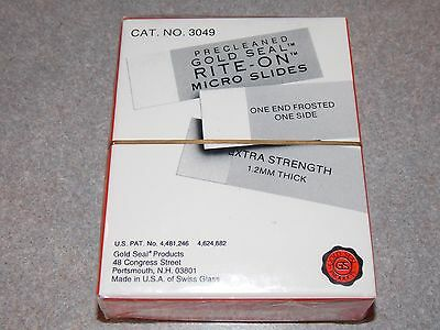 """Gold Seal 3049 Precleaded Gold Seal Rite-On Micro Slides 3""""x1""""mm 1/2 Gross 72"""