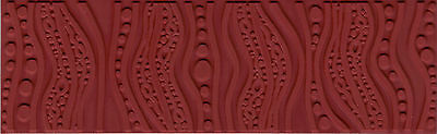 """Groovy Lava Lamp Pattern RUBBER STAMPING MAT Art Clay PMC Texture Stamp 2x7"""""""