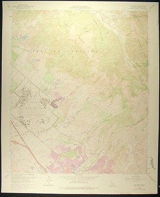 El Toro California Orange County 1978 vintage USGS original Topo chart map