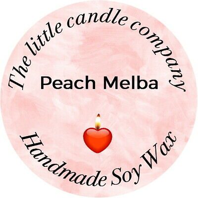Personalised Candle/melt Labels Any Text Any Colour Advertise Your Business