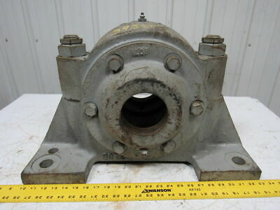 Large Cast Iron Split Pillow Block Bearing Housing Décor Item Vintage Steampunk