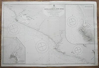 1904-5 Africa Liberia Manna River To Junk River Monrovia Old Admiralty Chart Map