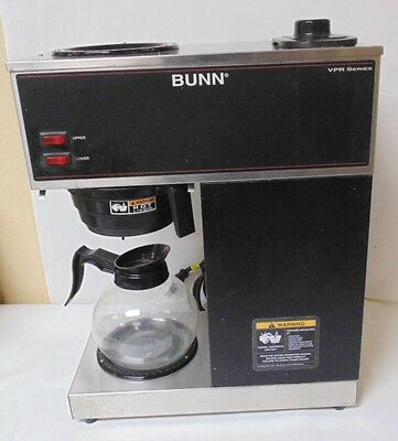 Coffee Brewer Bunn VPR Black 12 Cup Pour-over 2 Warmers 1 Glass Decanter