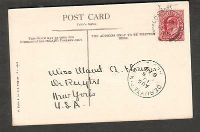 1906 Oxford Worcester College post card London to Miss Maud A Howes DeRuyter NY