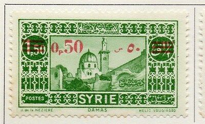 Syria 1938 Early Issue Fine Mint Hinged 50p. Surcharged 047812